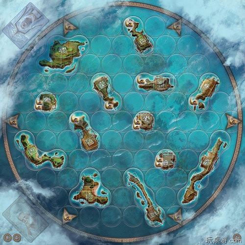 桌游 Cyclades地图