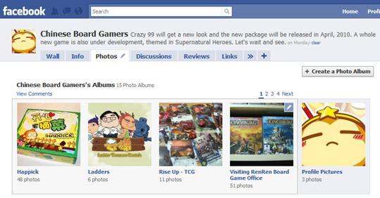玩桌游网在Facebook上对于国产桌游的推广